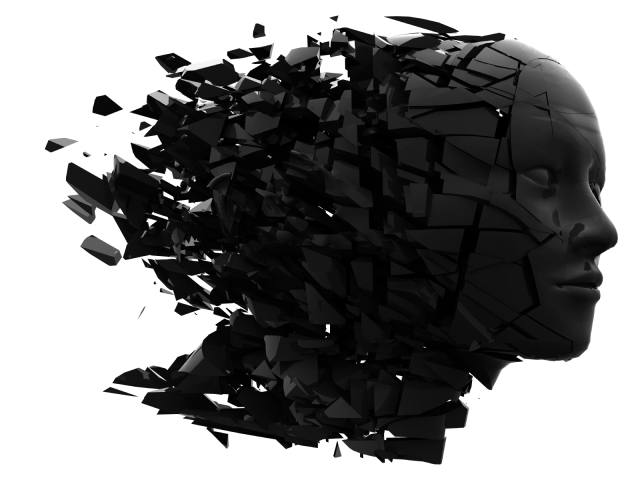 shattered head